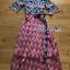 Lady Jane Red and Navy Printed Kimono Dress thumbnail 7