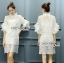 Lady Ann Boleyn Modern Vintage Lace Dress thumbnail 2