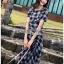 Dress เดรสพิมพ์ลายตารางสก็อตสีดำ thumbnail 6