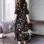 ชุดเดรสดอกเกาหลีผ้าชีฟองลายดอก thumbnail 4