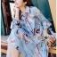 Lady Leslie Vivid Blue Printed Bow Dress thumbnail 5