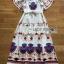 Dress เดรสผ้าเครปสีขาวพิมพ์ลายสีสดใส thumbnail 12