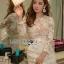 🎀 Lady Ribbon's Made 🎀 Lady Gabriella Elegant Chic Mixed Lace Dress thumbnail 3