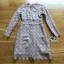 Lady Stella Flower Lace Dress in Beige thumbnail 7