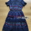Lady Poppy Vivid Blue and Burgundy Lace Dress thumbnail 4