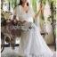 Lady Ashley Pure Royal Lace-Down White Lace Dress thumbnail 6
