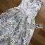 Lady Amanda Pure White and Gold Tulle Dress thumbnail 6
