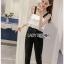 Lady Ribbon Lace and Black Crepe Jumpsuit thumbnail 2
