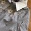 Shirt Dress with Ribbon เชิ้ตเดรสลายทางปักลาย thumbnail 7