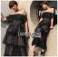 Layered Lace Dress เดรสผ้าลูกไม้สีน้ำเงิน thumbnail 4