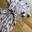 Lady Zoey Flower Printed Ruffle Zig-Zag Crepe Dress thumbnail 7