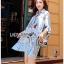 Lady Leslie Vivid Blue Printed Bow Dress thumbnail 1