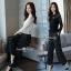 เสื้อ+กางเกงเกาหลี ผ้าลูกไม้ thumbnail 1