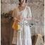Sweet and Pure Ruffle Lady Ribbon Lace Dress thumbnail 2