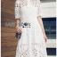 Lace Shirt Dress เชิ้ตเดรสผ้าลูกไม้สีขาว thumbnail 1