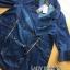 Lady Ribbon Denim Coat Dress thumbnail 4