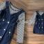 เสื้อลายริ้วสีกรม + เอี๊ยมสียีนส์ thumbnail 6