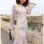 Off-Shoulder Lady Ribbon Lace Dress thumbnail 5