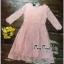 สีชมพูชุดเดรสเกาหลีแขนยาว thumbnail 5