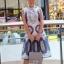 Lady Madison Modern Lace and Crepe Dress thumbnail 2