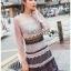Layered Lace Lady Ribbon Mini Dress thumbnail 2