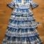 Lady Rita Italian Printed Ruffle Maxi Dress thumbnail 7