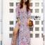 Modern Bohemian Floral Printed Lady Maxi Dress thumbnail 1