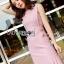 Chic Side-Button Body Lady Ribbon Dress thumbnail 2