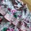 เดรสพิมพ์ลายดอกไม้สีชมพูตกแต่งระบาย thumbnail 9