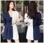 Two-Tone Striped Lady Ribbon Suit Dress thumbnail 1