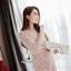เดรสสไตล์เกาหลีทรงยาวสีชมพูนูด thumbnail 4