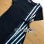 Lady Andra Plain and Striped Asymmetric Black Dress thumbnail 6