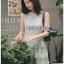 Ruffle Grey Lady Ribbon Lace Dress thumbnail 4