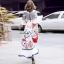 Maxi Dress คอสูงแขนระบายวินเทจ thumbnail 4