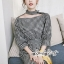 เดรสลุคสาวเกาหลีงานเดรสลายสก็อตโทนสีขาวดำ thumbnail 6