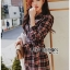 Lady Rachel Ribbon Twist Tartan Wool Shirt Dress thumbnail 3
