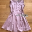 Lady Ribbon Pink Crepe Dress thumbnail 8