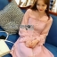 Pink Chiffon Dress มินิเดรสผ้าชีฟองสีขมพู thumbnail 3