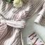 ผ้าคอตตอนพิมพ์ลายริ้วลุคสาวหวานโทนสีชมพู thumbnail 10