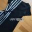 Lady Andra Plain and Striped Asymmetric Black Dress thumbnail 8