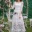 Lady Eves Princess Style White Lace Dress thumbnail 3