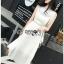 Lady Mia Embroidered Pleated Chiffon Dress thumbnail 2