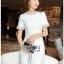 White tweed Lady Ribbon Cocktail Dress thumbnail 2