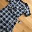 Dress เดรสพิมพ์ลายตารางสก็อตสีดำ thumbnail 7