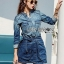 Lady Sarah Street Chic Denim Shirt Dress thumbnail 5