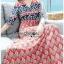 Lady Jane Red and Navy Printed Kimono Dress thumbnail 4
