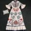 Maxi Dress คอสูงแขนระบายวินเทจ thumbnail 6