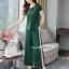 เซ็ทเสื้อ+ผ้าริบบิ้น+กางเกงงานเกาหลีผ้าสีพื้น thumbnail 2