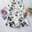 จั้ม Suit ขาสั้นดีเทลเนื้อผ้าพิมพ์ลายดอกไม้ thumbnail 8