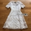 Embroidered Lady Ribbon White Lace Dress thumbnail 8